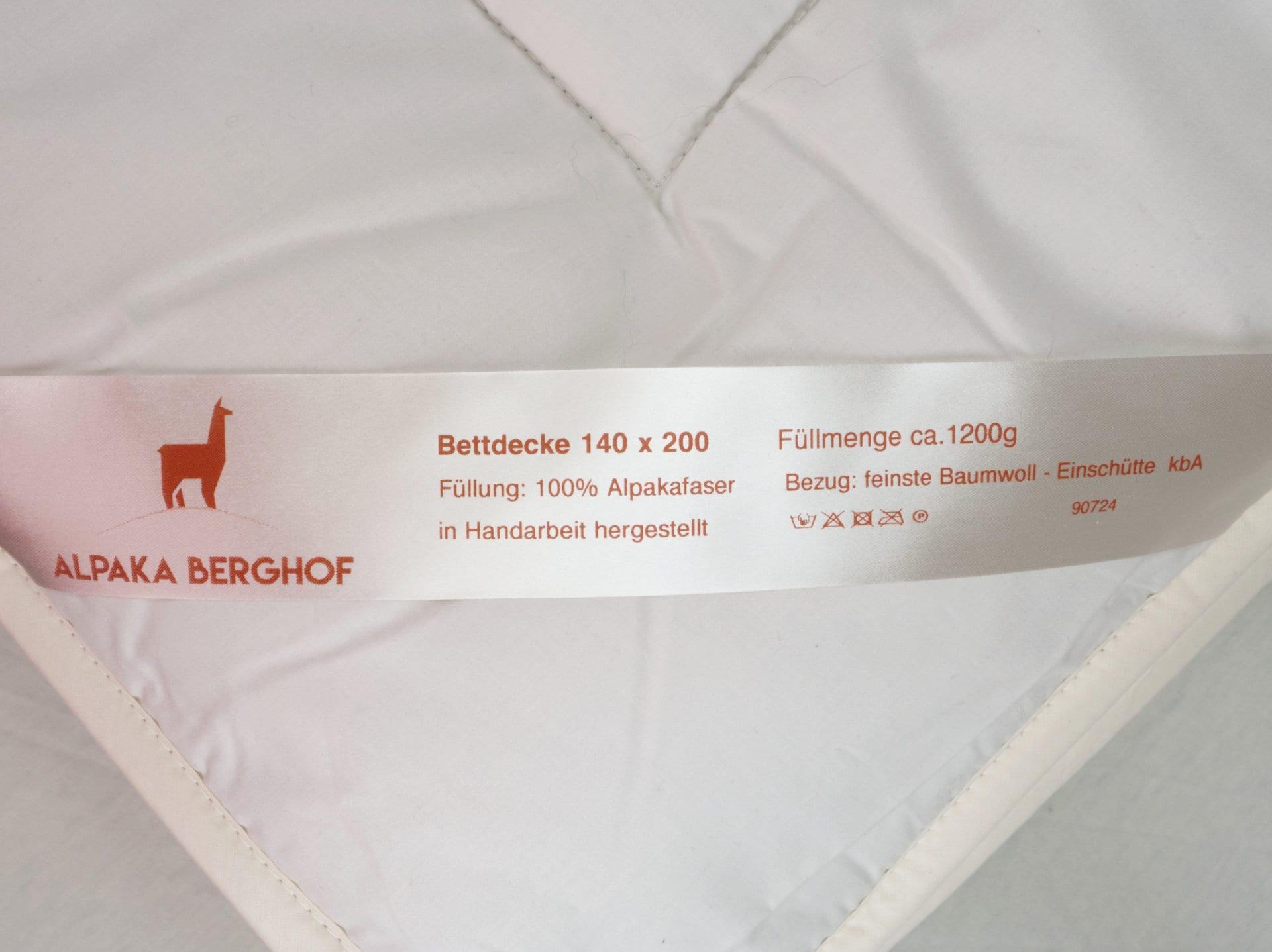 Alpaka Bettdecke Etikette